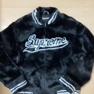 シュプリーム(Supreme)のsupreme faux fur varsity jacket シュプリーム(ブルゾン)