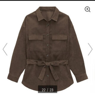 ジーユー(GU)のGU コーデュロイベルテッドオーバーサイズシャツ(シャツ/ブラウス(長袖/七分))
