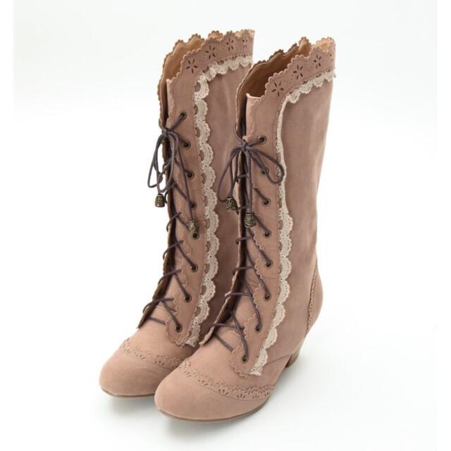axes femme(アクシーズファム)のaxes femme❤︎スウィートレースアップブーツ レディースの靴/シューズ(ブーツ)の商品写真