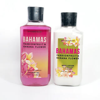 バスアンドボディーワークス(Bath & Body Works)のBBW Bahamas Passionfruit&BananaFlower 2点(ボディローション/ミルク)