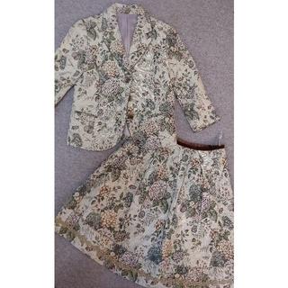 ロイスクレヨン(Lois CRAYON)のロイスクレヨン ゴブランスカートスーツ バッグ 三点セット 紫陽花柄(セット/コーデ)