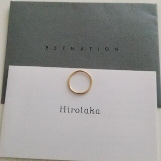 エストネーション(ESTNATION)のhirotaka ヒロタカ ピンキーリング 18k(リング(指輪))