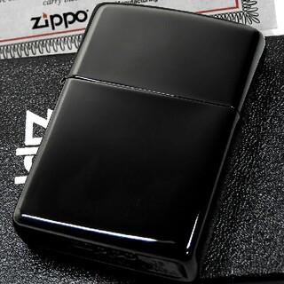ジッポー(ZIPPO)の(送料込み)ZIPPO◇ブラックコーティング◇真ブラック◇PVD◇ジッポ(タバコグッズ)
