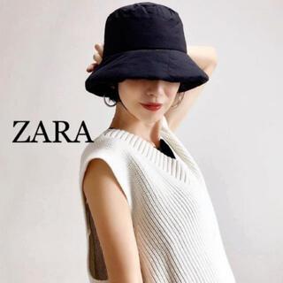 ZARA - zara バケットハット ブラック M