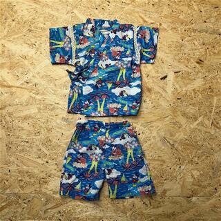 アンパサンド(ampersand)の美品 AMPERSAND 80 甚平 Disney ミッキー 子供服 JP35(甚平/浴衣)
