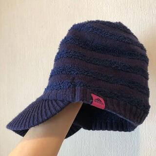 adidas - Adidas つば付きニット帽子