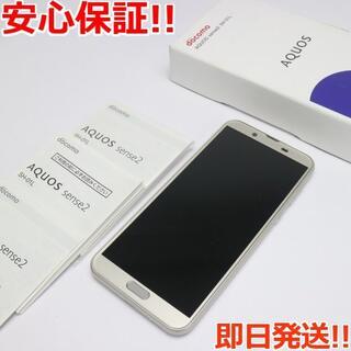 アクオス(AQUOS)の美品 SIMロック解除済 SH-01L AQUOS sense2 ゴールド(スマートフォン本体)