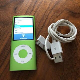 iPod - iPod nano 第4世代8GB グリーン 接続コード付き
