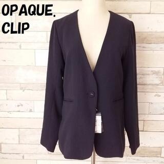 OPAQUE.CLIP - オペークドットクリップ ノーカラー 1ボタンジャケット サイズ38 レディース