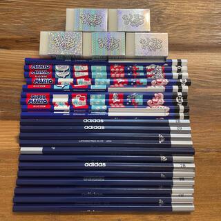 アディダス(adidas)のadidas2B鉛筆12本&三菱マリオ2B鉛筆9本&まとまるくん5個(鉛筆)