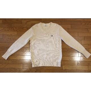 プレイボーイ(PLAYBOY)のセーター ニット vネック スクール 制服 プレイボーイ ベージュ(ニット/セーター)