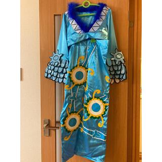 【試着のみ】ワンピース ボアハンコック コスプレ衣装 ブルー青 オーダーメイド(衣装一式)