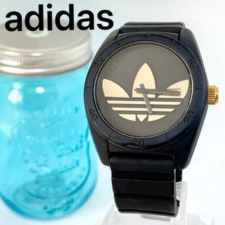 adidas - 129 adidas時計 メンズ腕時計 新品電池 ブラック×ゴールド ラバー