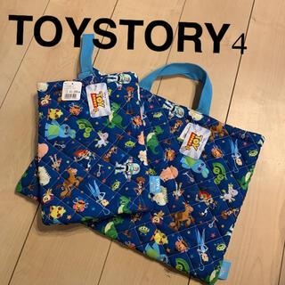 ディズニー(Disney)のDisney TOY STORY4 入園バック 上履き入れ2点セット(通園バッグ)