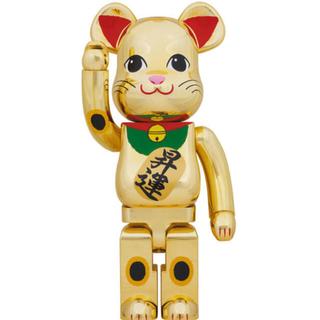 メディコムトイ(MEDICOM TOY)のベアブリック 招き猫 金メッキ 昇運 1000%(その他)