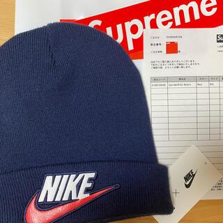 シュプリーム(Supreme)のSupreme × Nike Beanie シュプリームナイキビーニー(紺色)(ニット帽/ビーニー)