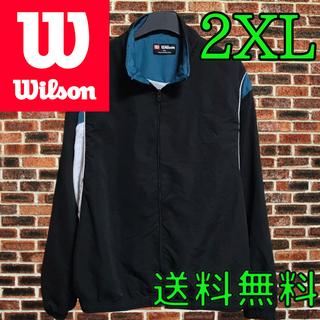 ウィルソン(wilson)のWILSON ウィルソン 90s ナイロンジャケット アディダス  ナイキ 黒色(ナイロンジャケット)