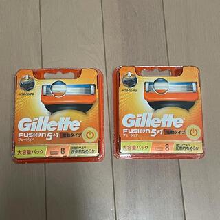 ジレ(gilet)の2個セット ジレット フュージョン5+1 ホルダー パワー替刃8個入(カミソリ)