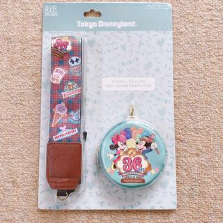 ディズニー(Disney)の未開封ディズニーランド36周年グッズカメラストラップセットミッキーミニー(その他)