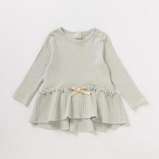 プティマイン(petit main)のプティマイン リボンつきフレアテレコTシャツ 120(Tシャツ/カットソー)
