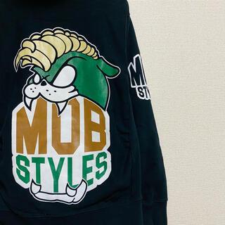 モブスタイル(MOBSTYLES)の一点物 モブスタイルス(MOBSTYLES) デカロゴ   刺繍 パーカー(パーカー)
