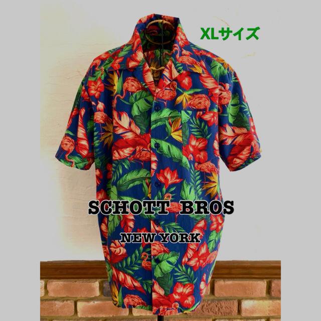schott(ショット)のアロハシャツ メンズショットSCHOTT  FLAMINGO フラミンゴ  メンズのトップス(シャツ)の商品写真