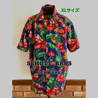 ショット(schott)のアロハシャツ メンズショットSCHOTT  FLAMINGO フラミンゴ (シャツ)
