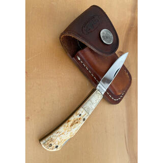 オピネル(OPINEL)のヴィンテージハンドメイドナイフ シース付 美濃関市刃物屋(調理器具)