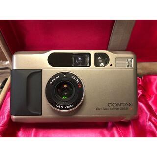 キョウセラ(京セラ)の《実写確認済》CONTAX T2 ➕DATA BACK(フィルムカメラ)
