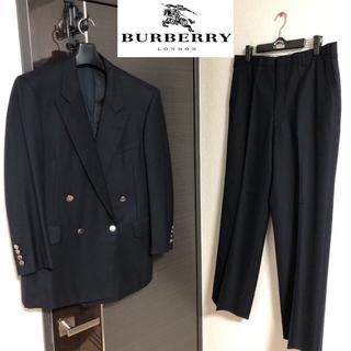 最高級 Burberrys バーバリーズ ダブル セットアップ 紺ブレ 銀ボタン