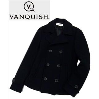 ヴァンキッシュ(VANQUISH)の定価3万円○VANQUISH ヴァンキッシュ Pコート メルトンウール ダークネ(ピーコート)