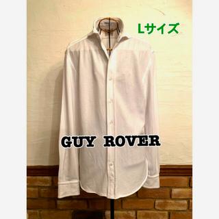 ギローバー(GUY ROVER)のGUY ROVER ギィローバー 白長袖オシャレポロシャツイタリア製(ポロシャツ)