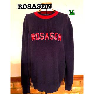 ロサーゼン(ROSASEN)のROSASEN  ロサーゼンゴルフ男性用セーターネイビー(ニット/セーター)