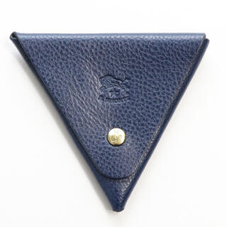 イルビゾンテ(IL BISONTE)の新品 イルビゾンテ 小銭入れ コインケース 三角形 コインパース ネイビー 無地(コインケース)