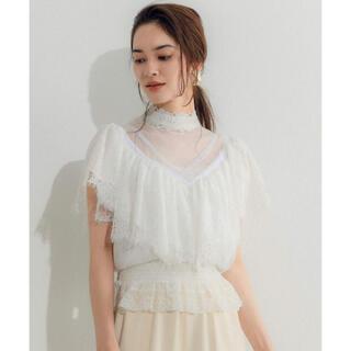 ラベルエチュード(la belle Etude)のラベルエチュード Vintage調レーススリーブ半袖ブラウス(シャツ/ブラウス(半袖/袖なし))