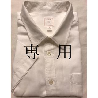 ギャップ(GAP)の【GAP】麻混メンズシャツ L 白(シャツ)
