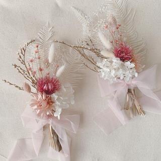 くすみピンクのスワッグ 花束 ブーケ 3way スワッグ ギフト(ドライフラワー)