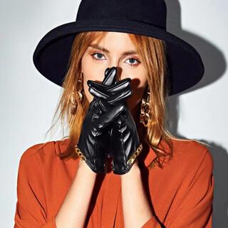 ザラ(ZARA)のレザーチェーン手袋(手袋)