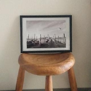 風景写真ベネチアゴンドラ A4 (写真のみ)(写真額縁)