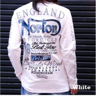 ノートン(Norton)のSALE!! 6990円→5490円新品NORTONノートンブルースチールロンT(Tシャツ/カットソー(七分/長袖))