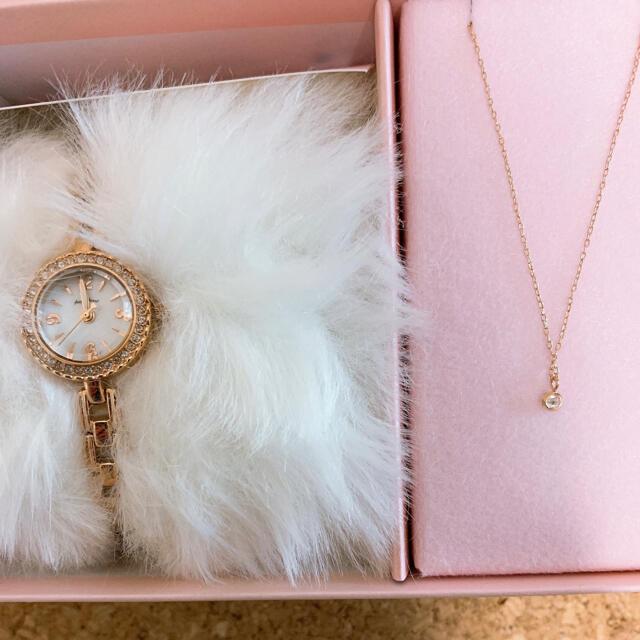 Angel Heart(エンジェルハート)の【お値下げ】新品★エンジェルハート 腕時計&ネックレスセット レディースのファッション小物(腕時計)の商品写真
