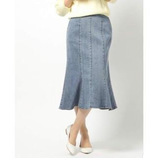 バンヤードストーム(BARNYARDSTORM)の再値下げ BARNYARDSTORM デニムマーメイドスカート(ひざ丈スカート)