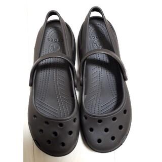 crocs - crocsクロックス (サイズ w7 ) [23cm] (色ブラウン)