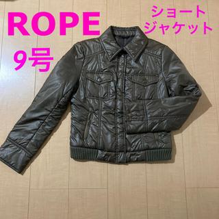 ロペ(ROPE)のROPE 中綿入り ショートジャケット カーキ(ダウンジャケット)