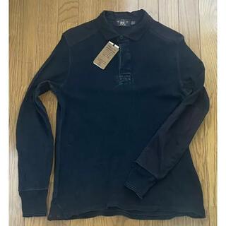 ダブルアールエル(RRL)のロンハーマン購入 RRLラガーシャツ ブラックインディゴ ポロラルフローレン(ポロシャツ)
