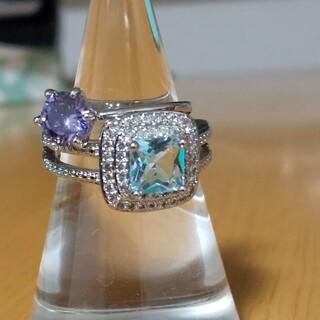 リング 指輪 2個セット まとめ売り キラキラリング ファッションリング(リング(指輪))