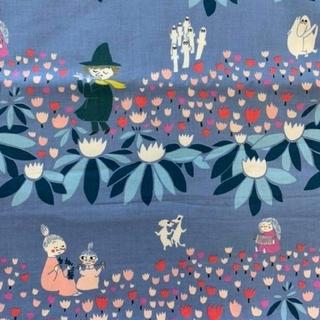 Little Me - ムーミン生地 ビエラ ブルー 廃盤レア