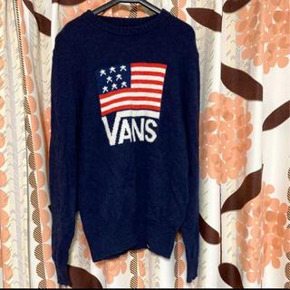 ヴァンズ(VANS)のvans バンズ レディース  ニット セーター ネイビー M(ニット/セーター)