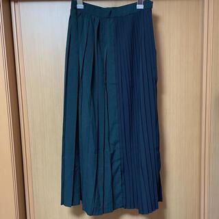 pleats skirt green(ロングスカート)