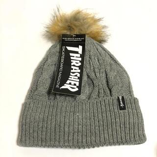 スラッシャー(THRASHER)のTHRASHER ニット帽 ニットキャップ グレー(ニット帽/ビーニー)